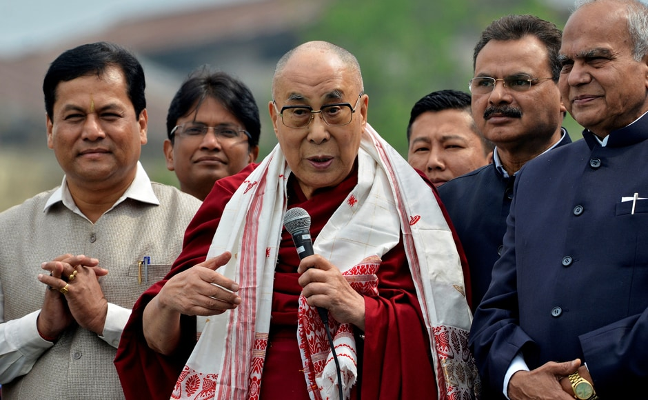 "Tibetan spiritual leader the Dalai Lama began his nine-day northeast tour from Assam's Guhawati where he addressed a gathering during the ""Namami Brahmaputra"" festival on Sunday. Reuters"