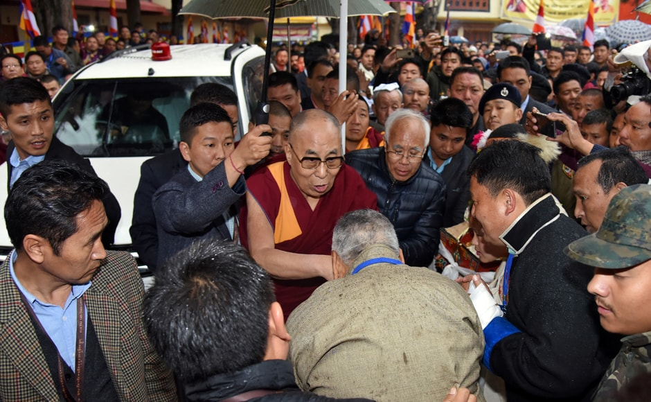 The Dalai Lama reached the Thubchog Gatsel Ling Monastery in Bomdila in Arunachal Pradesh on Tuesday where he took part in religious discourses. Reuters