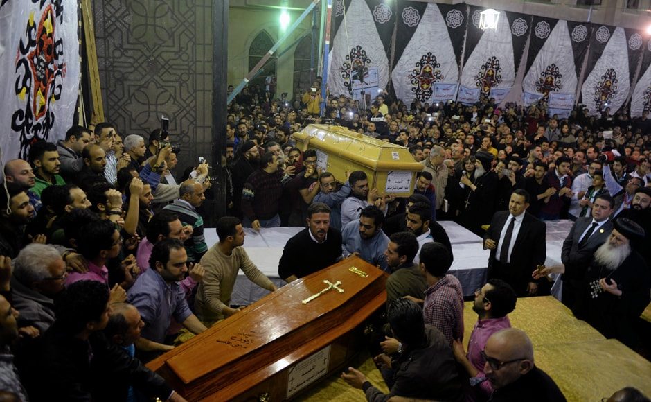 As night fell, hundreds of Christians clad in black, streamed to the church to offer their condolences. Egypt's Copts are one of the oldest Christian communities in the Middle East and have long complained of discrimination. While the community has stood steadfast alongside the Sisi government, an increase in attacks on Christians has tested that support. Reuters