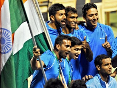 Elated Indian fans celebrate after taking an unassailable lead against Uzbekistan. PTI