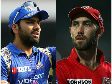 Rohit Sharma and Glenn Maxwell, captain of Mumbai Indians and Kings XI Punjab respectively. Sportzpics