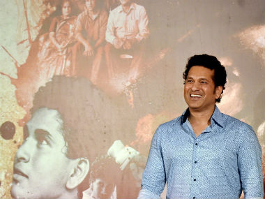 Sachin Tendulkar addresses the media. PTI