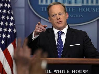 White House spokesman Sean Spicer holds a press briefing at the White House in Washington, U.S., February 21, 2017. REUTERS/Carlos Barria