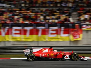 Sebastian Vettel during final practice for the Formula One Grand Prix of China. Getty