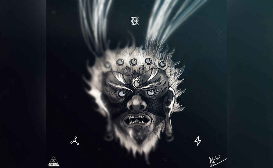 "The artist often gives elaborate backgrounds to his art. For his illustration 'Underwater Psycho', he writes, ""He dwells deep, this creep. Staring me down with his water swollen gaze; Under miles of polite bodies of Ink, opaque and blind - He awaits my fall, from calm and grace."" Art by Abhishek Bommana."
