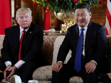 U.S. President Donald Trump welcomes Chinese President Xi Jinping at Mar-a-Lago state in Palm Beach, Florida, U.S. Reuters