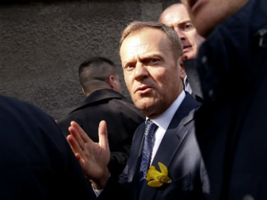 Donald Tusk, the president of the European Council. AP