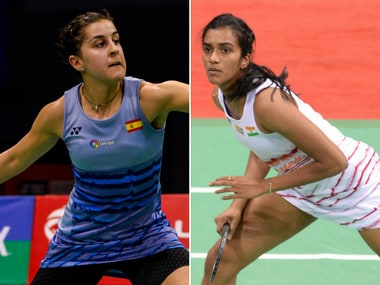 Carolina Marin and PV Sindhu face off in the final of the India Open 2017. AFP