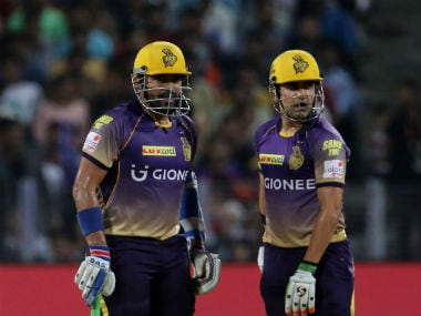 Robin Uthappa and Gautam Gambhir added 158 runs for the second-wicket against Rising Pune Supergiant. Sportzpics