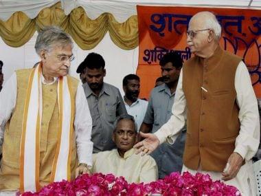 File photo of LK Advani and Murli Manohar Joshi. PTI