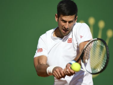 Novak Djokovic in action. AFP