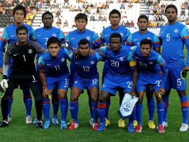 File photo of Indian football team. AFP