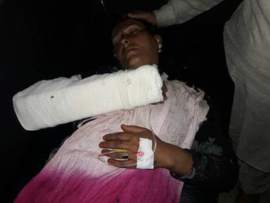 A woman, who belonged to the family in Reasi which was attacked, was admitted in the hospital after the cow-vigilantes attacked the family on Friday. Image courtesy: Ishfaq Naseem