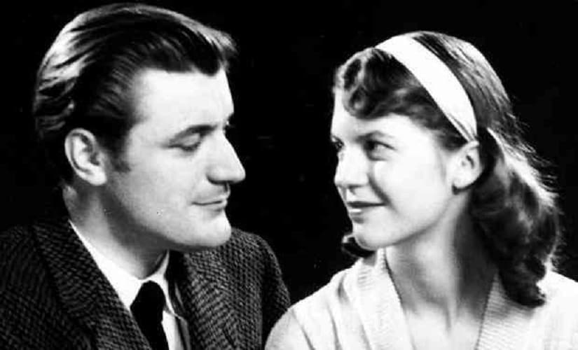 Sylvia Plath and Ted Hughes. Image from Flickr by summonedbyfells