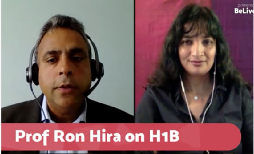 Link to the FB Live conversation with Ron Hira is embedded in the text