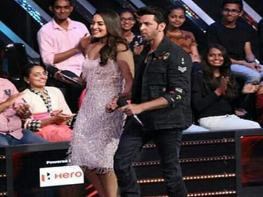 Sonakshi Sinha and Hrithik Roshan on Nach Baliye 8. Instagram