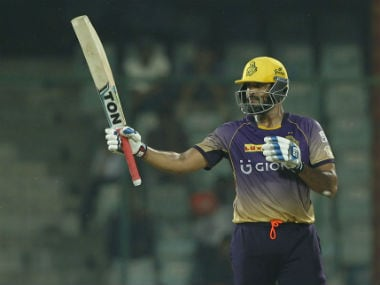 Yusuf Pathan after getting to a fifty against DD in IPL 2017. Sportzpics