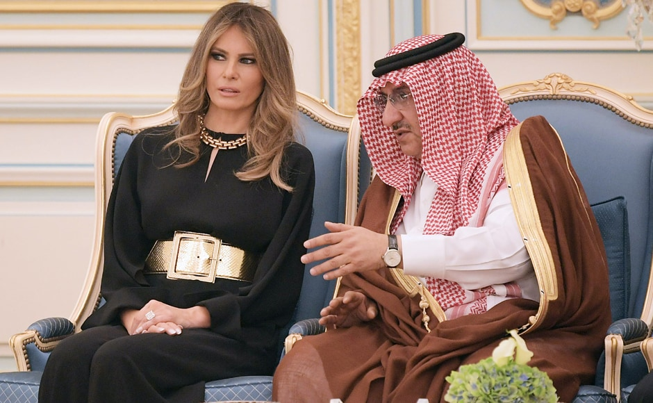 UTrump in 2015 criticised then-first lady Michelle Obama for not wearing a headscarf during a visit to Saudi Arabia, saying on Twitter that her hosts had been