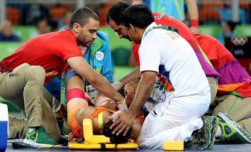 Vinesh Phogat was injured during the 2016 Summer Olympics at Rio de Janeiro. PTI