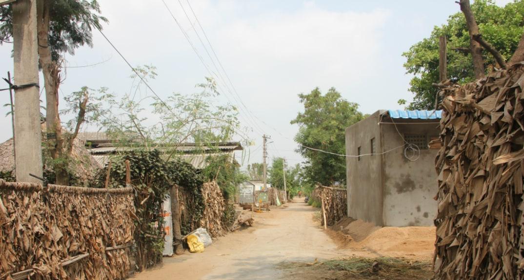 Farmers' houses in Lingapalayem. Photo - Swati Sanyal Tarafdar for Firstpost
