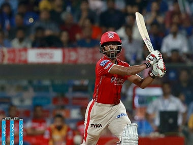 Wriddhiman Saha of KXIP plays a shot against Mumbai Indians. Sportzpics