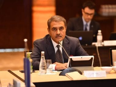 AIFF President Praful Patel at an Executive Committee meeting of AFC. Image courtesy: Twitter/@praful_patel