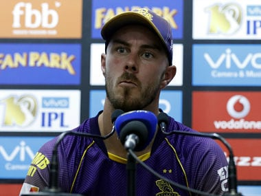 Chris Lynn addresses a press conference after KKR's loss against Kings XI Punjab. SportzPics