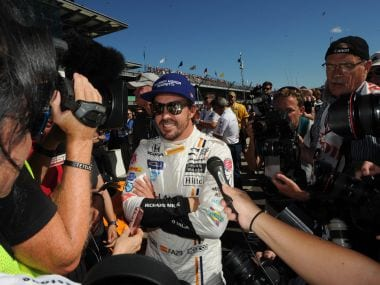 Fernando Alonso on the second day of qualifications at the Indianapolis Motor Speedway. Reuters