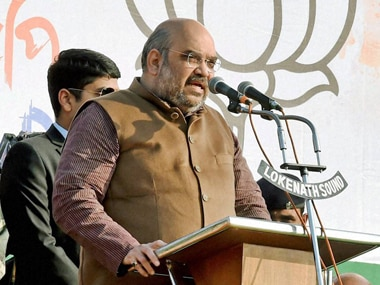 Amit Shah is on a 90-day country tour to expand his party. PTI