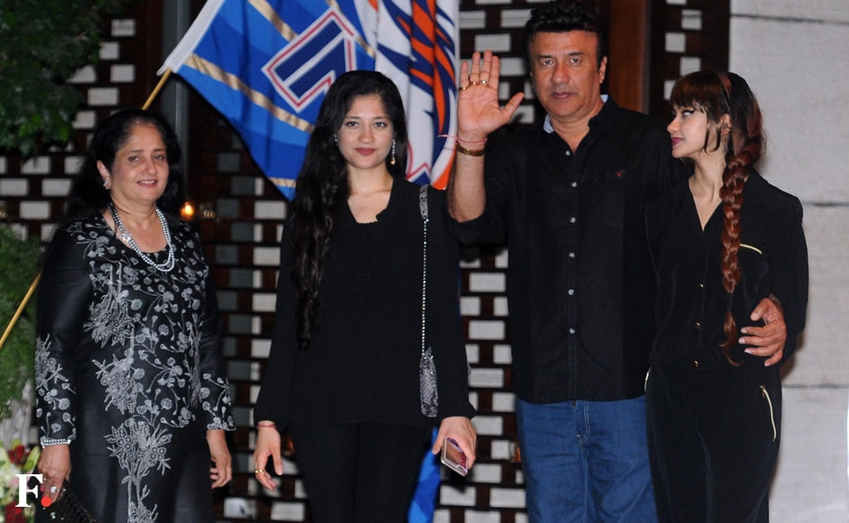 Anu Malik with family at the celebration party. Sachin Gokhale/Firstpost