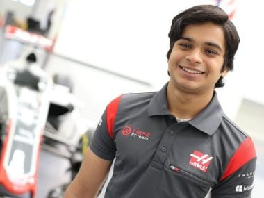 Haas F1 team signed Indian teenager Arjun Maini as development driver. Twitter/ @HaasF1Team