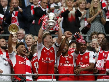 Arsenal win the FA Cup for a record 13th time. AFP