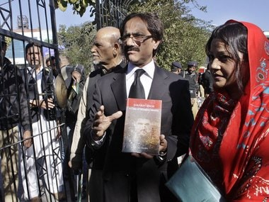 Awais Sheikh at Lahore Press Club after he was denied permission to launch his book about Sarabjit. Puja Changoiwala/ Firstpost