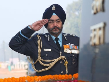 File image of IAF head Air Chief Marshal BS Dhanoa. Image courtesy: PIB