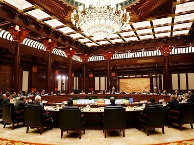 Heads of States and officials attend a summit at the Belt and Road Forum in Beijing. AP