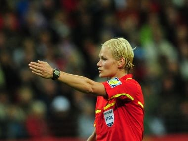 File image of German referee Bibiana Steinhaus. AFP