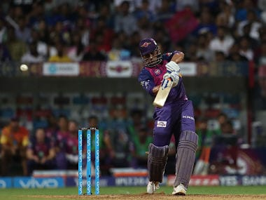 MS Dhoni of Rising Pune Supergiant in action against Mumbai Indians. Sportzpics