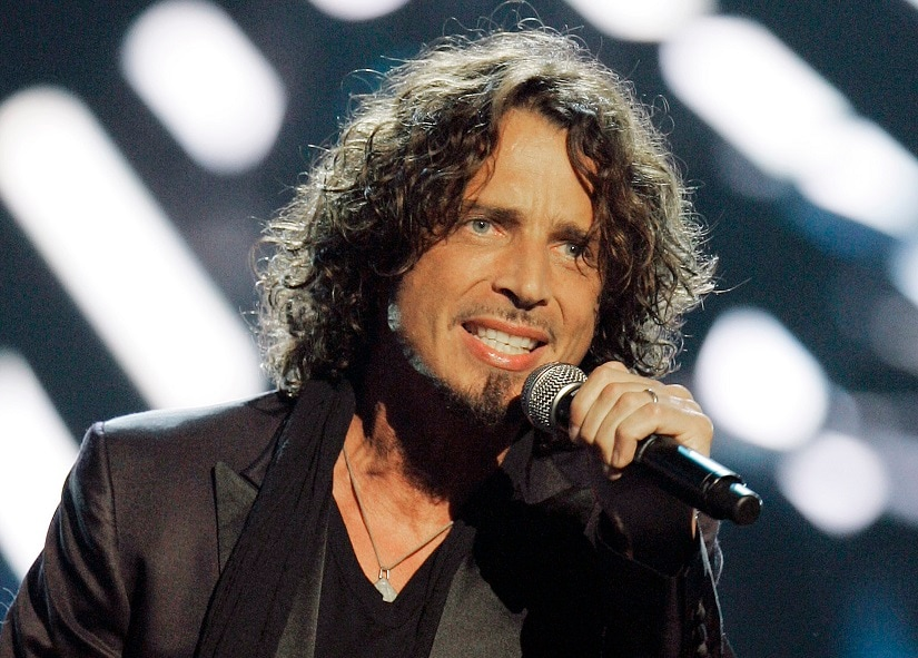 FILE - In this Sept. 5, 2008, file photo, musician Chris Cornell performs on stage during Conde Nast's Fashion Rocks show in New York. According to his representative, rocker Chris Cornell, who gained fame as the lead singer of Soundgarden and later Audioslave, has died Wednesday night in Detroit at age 52. (AP Photo/Jeff Christensen, File)