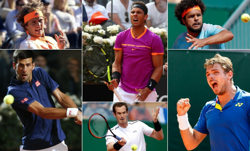 The main contenders for the title in the men's draw. Reuters
