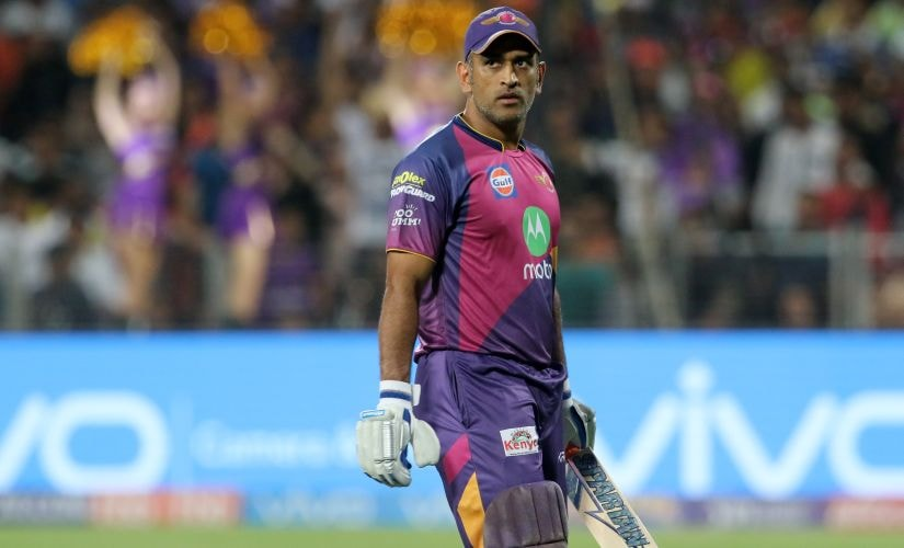 MS Dhoni of Rising Pune Supergiant. IPL/Sportzpics