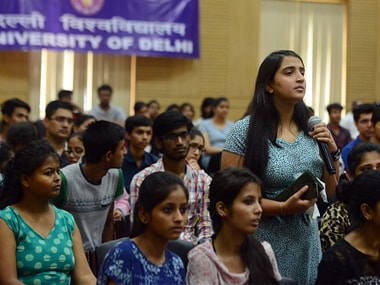 File image of admissions at Delhi University. Getty Images