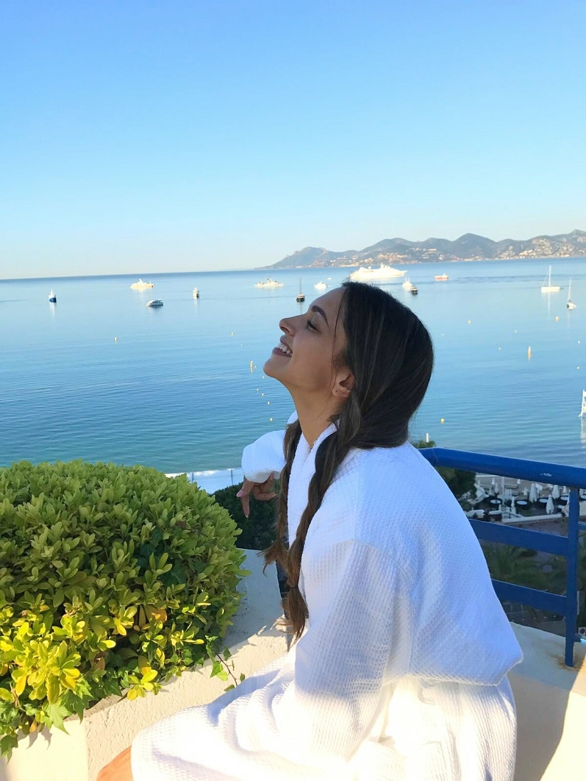 Deepika's first morning at Cannes