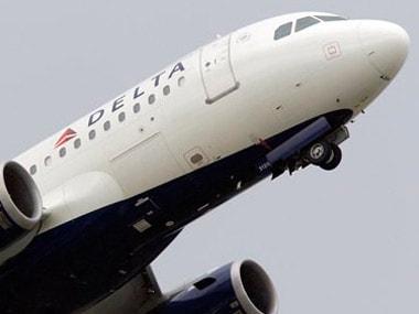 A Delta Airline commercial flight. AP