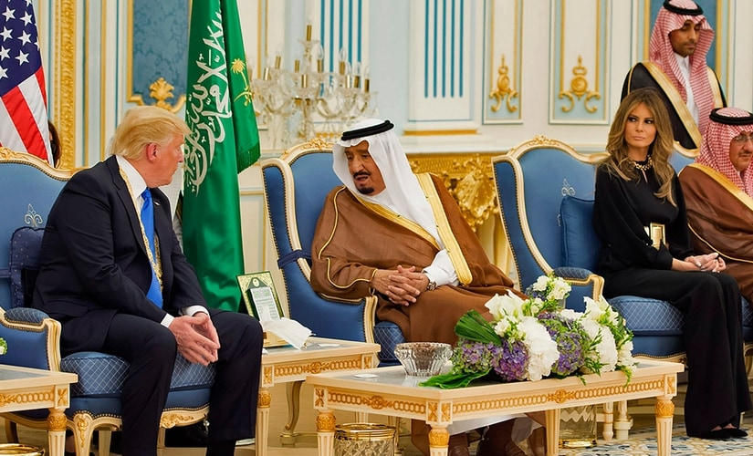 US president Donald Trump is visiting Saudi Arabia where he is scheduled to address a dozens of Muslim leaders. AFP