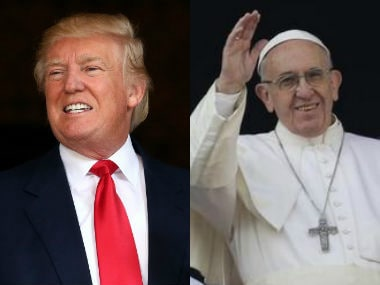 File image of Donald Trump and Pope Francis. AP