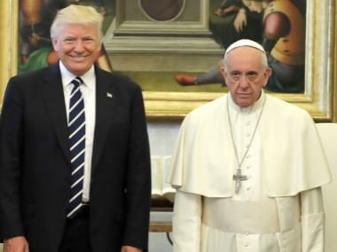 Donald Trump and Pope Francis at The Vatican. AP