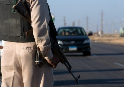 Egyptian police in Minya on high alert after attacks. AP