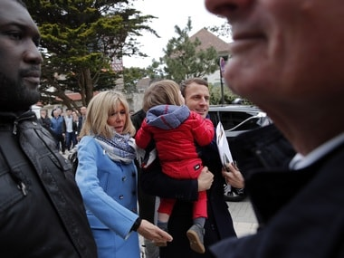 File image of French presidential candidate Emmanuel Macron . AP