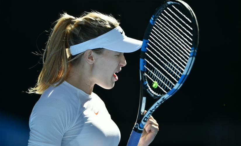 File photo of Eugenie Bouchard. AFP