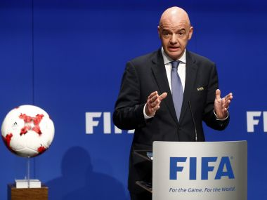 File photo of Fifa president Gianni Infantino. Reuters